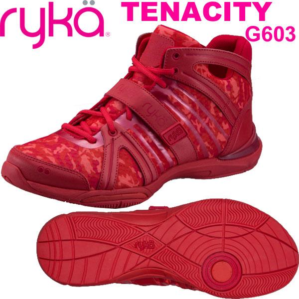 [RYKA]ライカ フィットネス TENACITY 〔レッド・カモ柄〕 C8149M-G603(27.0cm/メンズ)<テナシティー>【ダンスシューズ】【18SS05限定商品】【正規品】/送料無料