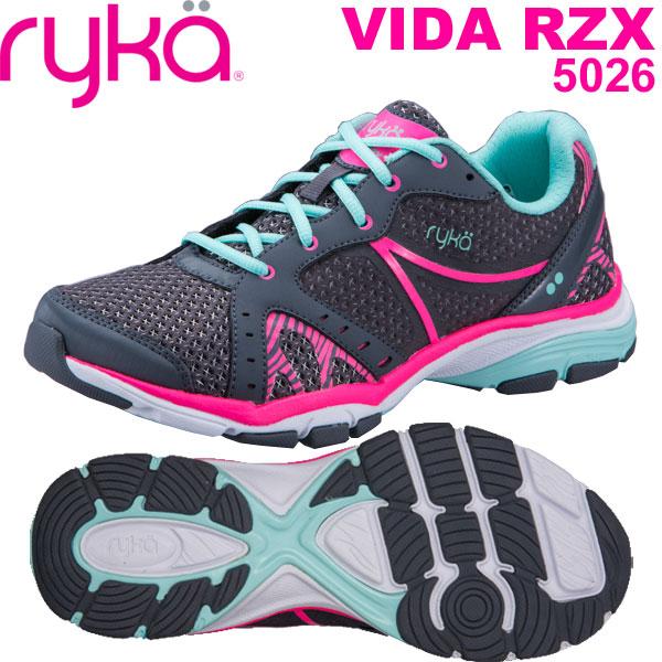 [RYKA]ライカ フィットネス VIDA RZX 〔グレー〕 D1996M-5026(22.5~25.0cm/レディース/メンズ)<ヴィーダRZX>【ダンスシューズ】【18SS09】【正規品】/送料無料