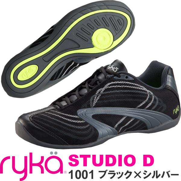 [RYKA]ライカ フィットネスシューズ STUDIO D<スタジオ ディー> D7131F-1001 BSV〔ブラック×シルバー〕(22.5~25.5cm/レディース)【ダンスシューズ】【15FW】【正規品】/送料無料