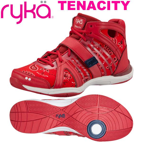 [RYKA]ライカフィットネス TENACITY 〔レッド/ペイズリー柄〕 E1269B-M601(22.0~28.0cm/レディース/メンズ)<テナシティー>【ダンスシューズ】【19FW09】【正規品】/送料無料