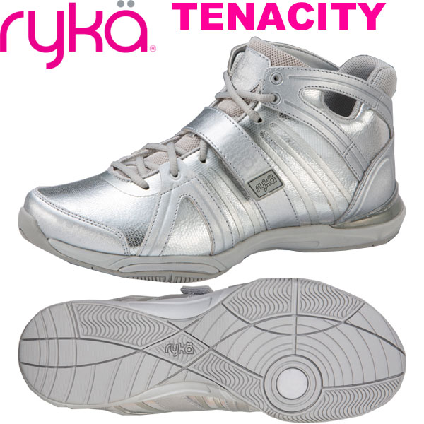 ライカ テナシティー TENACITY シルバー (24.5cm/レディース) 【19SS03】[RYKA] フィットネスシューズ エアロ
