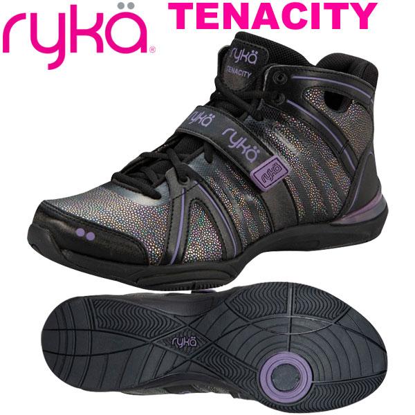 [RYKA]ライカフィットネス TENACITY 〔ブラック/レインボーブラスト加工〕 E1269M-X007(22.0~28.0cm/レディース/メンズ)<テナシティー>【ダンスシューズ】【19FW09】【正規品】/送料無料