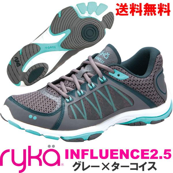 [RYKA]ライカ フィットネス INFLUENCE2.5 〔グレー〕 E5060M-1020(23.0~23.5cm/レディース)<インフルエンス2.5>【ダンスシューズ】【17FW09】【正規品】/送料無料