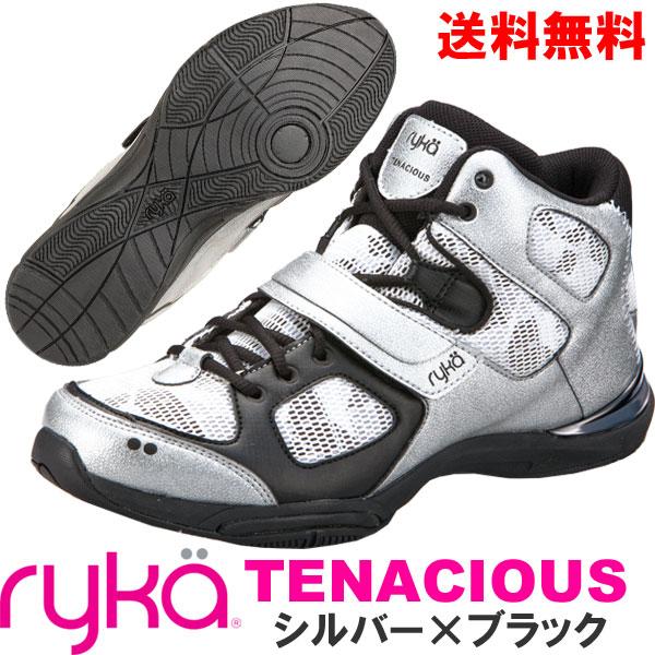 [RYKA]ライカ フィットネス TENACIOUS 〔シルバー×ブラック〕 E6643M-4001(22.0~28.0cm/レディース/メンズ)<テナシオス>【ダンスシューズ】【17FW09】【正規品】/送料無料