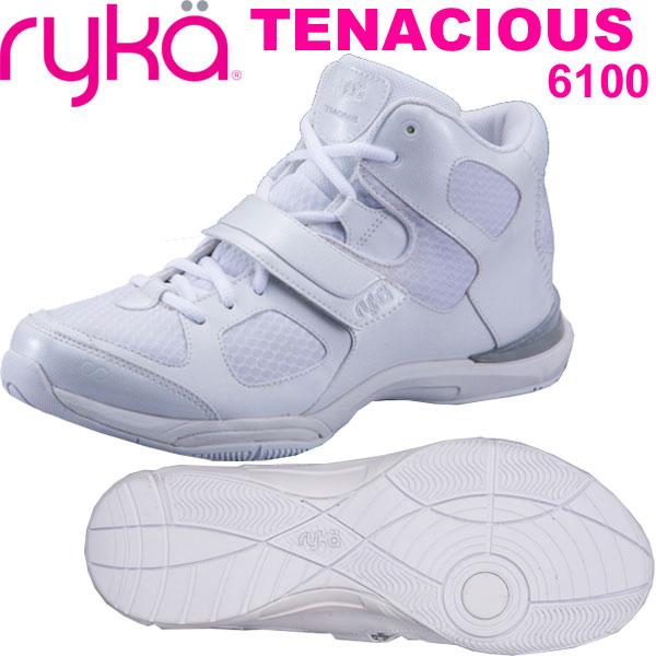 [RYKA]ライカ フィットネス TENACIOUS 〔ホワイト〕 E6643M-6100(22.0~28.0cm/レディース/メンズ)<テナシオス>【ダンスシューズ】【18SS03】【正規品】/送料無料