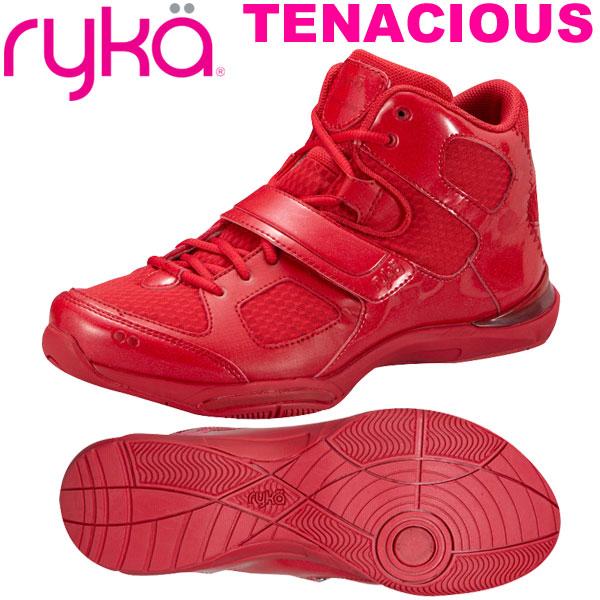 ライカ テナシオス TENACIOUS レッド (22.0~28.0cm/レディース メンズ) 【19FW09】 [RYKA] フィットネスシューズ エアロ