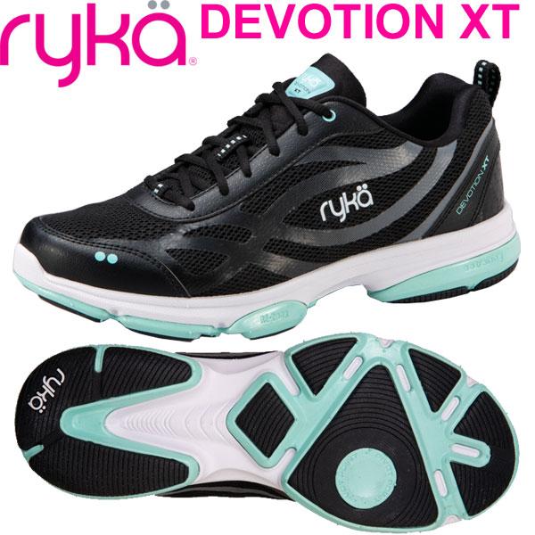 [RYKA]ライカ DEVOTION XT 〔ブラック×ミント〕 F0180M-6004(22.5~26.5cm/レディース/メンズ)<ディボーションエックスティー>【フィットネス・ダンスシューズ】【19SS03】【正規品】/送料無料