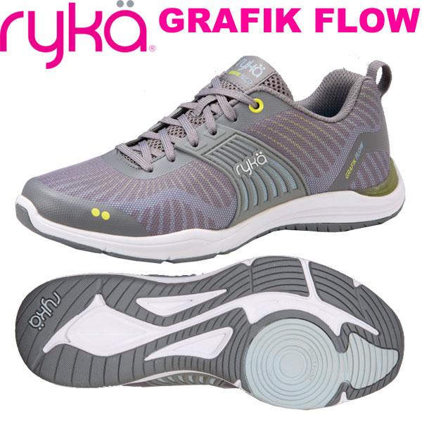 [RYKA]ライカ GRAFIK FLOW 〔グレー〕 F4241M-1020(22.5~25.5cm/レディース)<グラフィックフロウ>【フィットネス・ダンスシューズ】【19SS03】【正規品】/送料無料