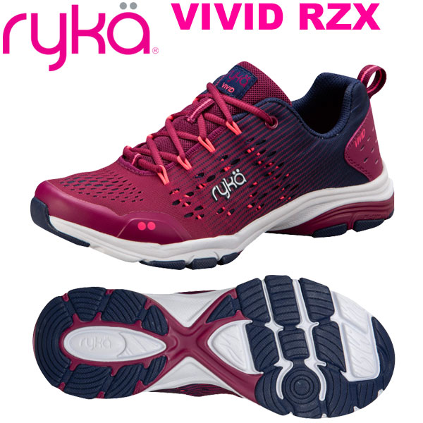ライカ ヴィヴィッド VIVID RZX ワインレッド×ネイビー (22.5~28.0cm/レディース メンズ) 【19FW09】 [RYKA] フィットネスシューズ エアロ