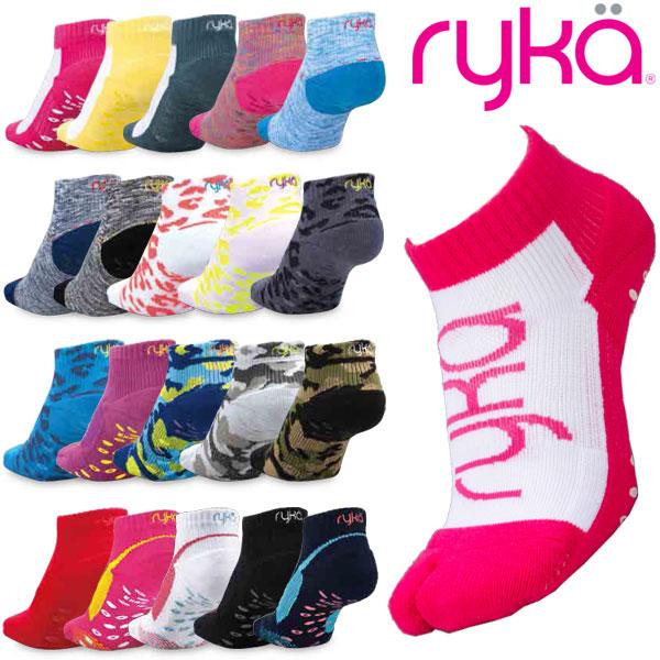 レディースサイズ バーゲンセール 定番人気のフィットネス用ソックス ライカ すべり止め付き足袋型ソックス 靴下 RYKA NEW 9cm丈 23-25cm レディース