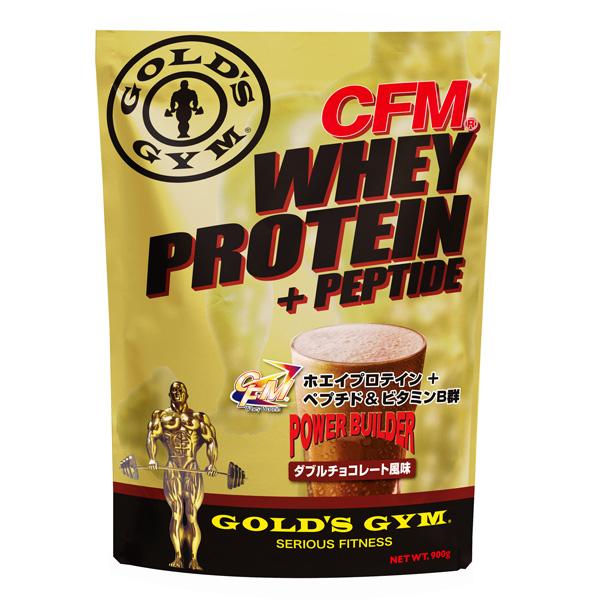 ゴールドジム CFMホエイプロテイン+ペプチド ダブルチョコレート風味(2kg) 【当店在庫品/送料無料】 ★ポイント10倍★ [GOLD'S GYM_S]