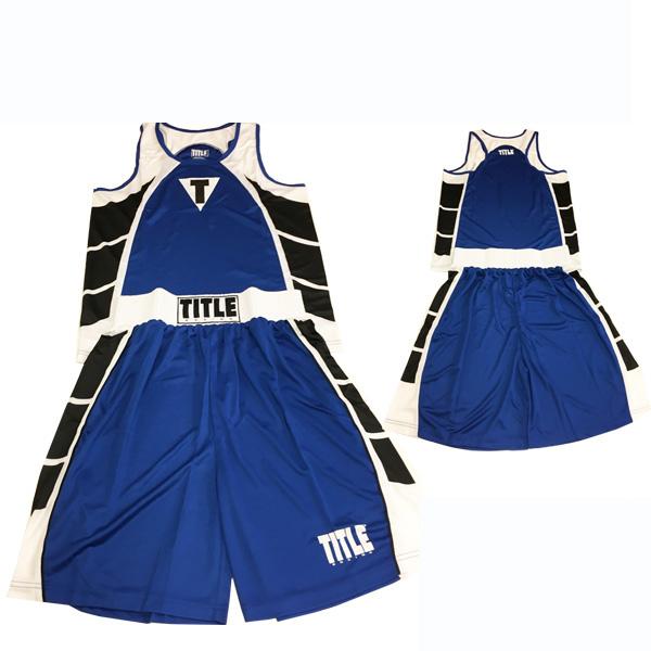 アマチュアボクシング ユニフォーム上下セット (Lサイズ) TITLE [海外セレクション]