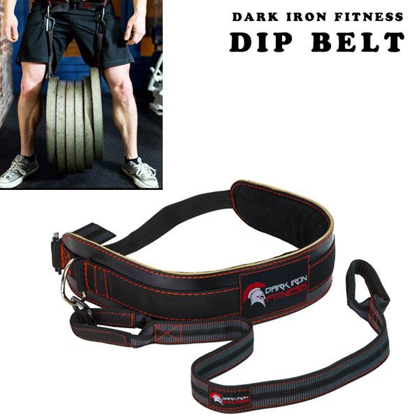 レザーディッピングベルト Dark Iron Fitness [海外セレクション] 懸垂 チンニング ディップス 筋トレ