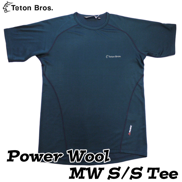 ティートンブロス パワーウールMWショートスリーブTシャツ (メンズ Lサイズ) Power Wool MW S/S Tee 【ラスト1点!/送料無料】 [Teton Bros.] ★アウトドドアキャンペーン2019★