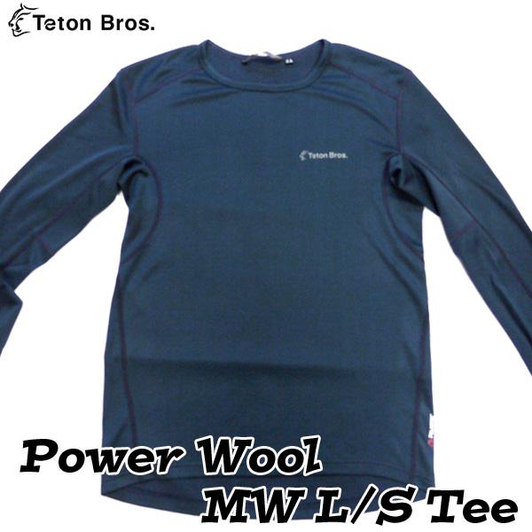 ティートンブロス パワーウールMWロングスリーブTシャツ (メンズ M・Lサイズ) Power Wool MW S/S Tee 【当店在庫品/送料無料】 [Teton Bros.] ★アウトドドアキャンペーン2019★