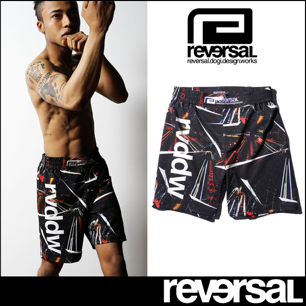 [reversal]リバーサル NIGHT RACE FIGHT SHORTS (ショーツ)(メンズ)【17FW12】【当店在庫品】【セール対象商品】(ssale)(30sale)