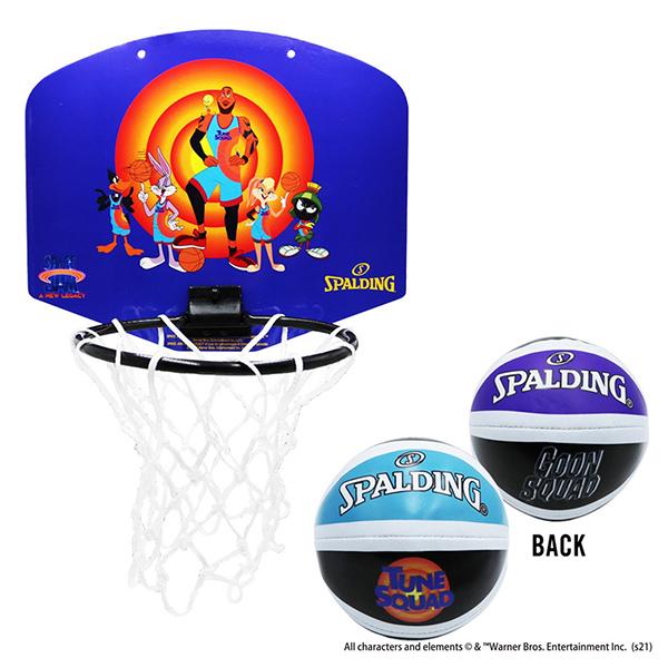 アニメーションで描かれたTUNE SQUADのクルーがプリントされたマイクロミニ 在庫あり スペース ジャム テューン スクワッドブルー マイクロミニ SPALDING リング 子供向け 家庭用バスケットゴール 自宅 SALENEW大人気! 人気の定番 バスケットボール スキル スポルディング シュート練習 バスケ