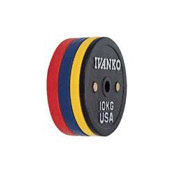 [IVANKO] ラバーウェイトリフティングオリンピックプレート(10kg)〔OCBプレート〕【送料別途徴求】※代引不可※