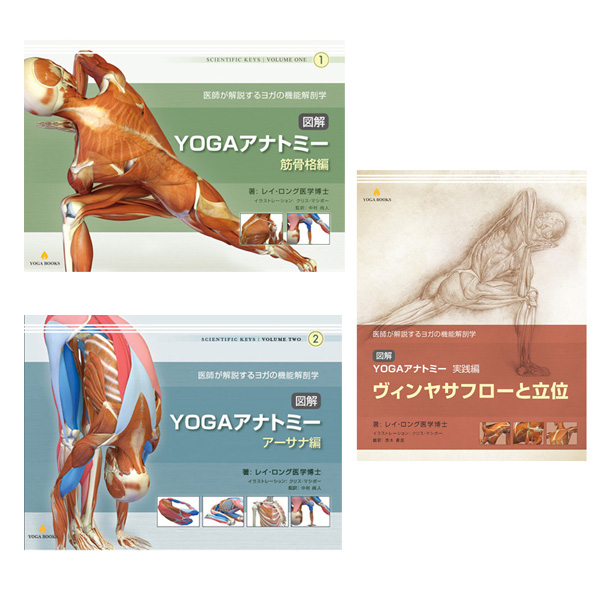 「図解YOGAアナトミー」シリーズ 3冊セット [UTL アンダーザライト] ヨガテキスト ヨガインストラクター
