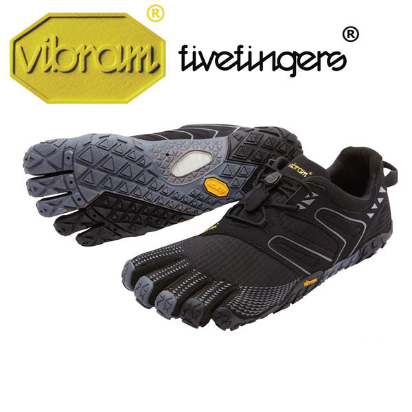 [vibram fivefingers] ビブラムファイブフィンガーズ Men's V-Trail(ブイトレイル)〔Black/Grey〕(メンズ)/送料無料