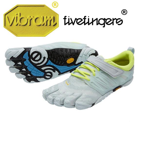 [vibram fivefingers] ビブラムファイブフィンガーズ Women's V-Train(ブイトレイン)〔Pale Blue/Safety Yellow〕(レディース)/送料無料