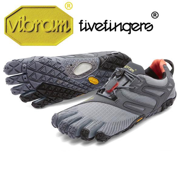 [vibram fivefingers] ビブラムファイブフィンガーズ Women's V-Trail(ブイトレイル)〔Grey/Black/Orange〕(レディース)/送料無料