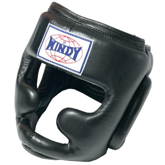 【アッパーや膝蹴りから守るあごガード付き】WINDY(ウィンディ)ヘッドガード(スタンダード)Mサイズ HP-3
