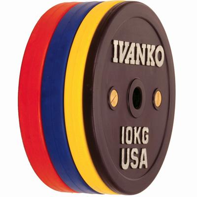 IVANKO(イヴァンコ)OCBプレート(ラバーウエイトリフティングオリンピックプレート)競技用 20kg(青)[Φ50mmバーベルプレート]