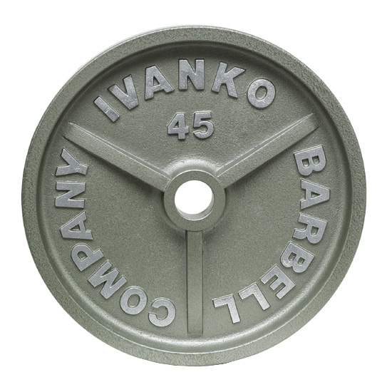 【Φ50mmバーベルプレート】IVANKO(イヴァンコ)OMK オリンピックペイントプレート 15kg(リーズナブルな50mmプレート)OMK-15