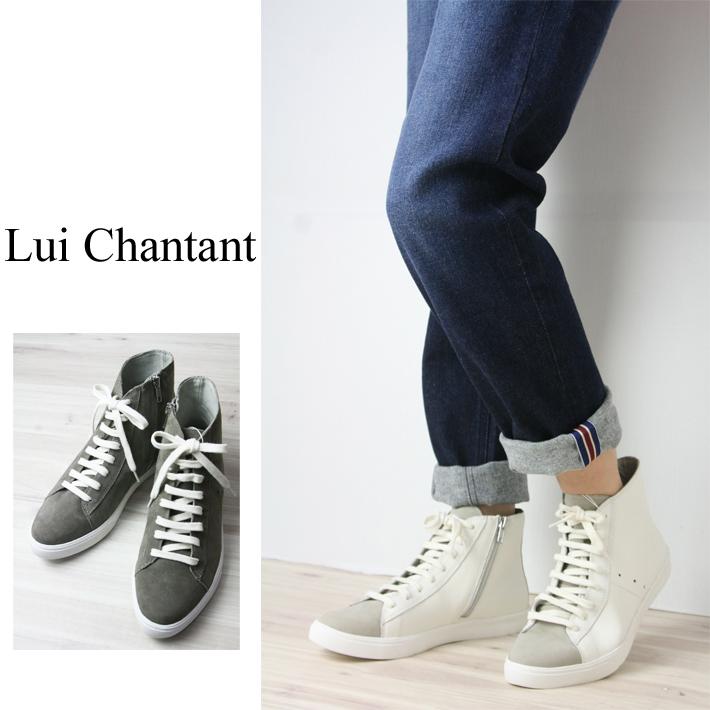 【30%OFF】【ルイシャンタン】【Lui Chantant】【ワールド ルイシャンタン】【あす楽】 本革ハイカットスニーカー レースアップスニーカー レディース ファッション 靴 ブーツ スニーカー