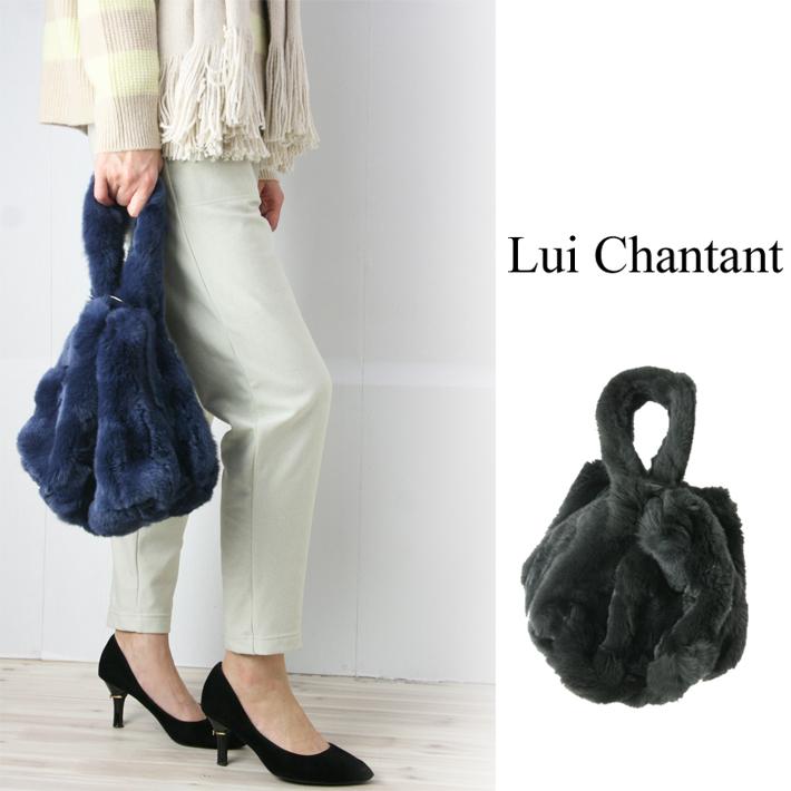 【30%OFF】【ルイシャンタン】【Lui Chantant】【ワールド ルイシャンタン】【あす楽】【ギフト対応】 ワンショルダーファーバッグ 巾着バッグ ファーバッグ レディースバッグ 大人カジュアル バッグ