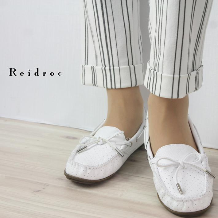 【春物新作】【送料無料】【レイドローク】【Reidroc】【ワールド レイドローク】 2E リボンデザインデッキシューズ 履きやすい レディース ファッション シューズ