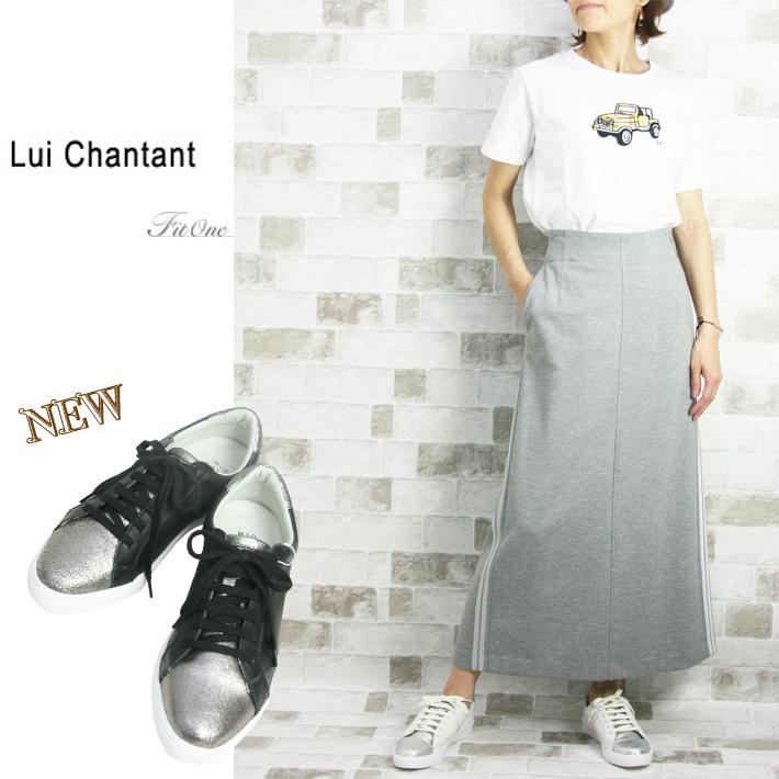 【30%OFF】【ルイシャンタン】【Lui Chantant】【ワールド ルイシャンタン】【あす楽】【ギフト対応】 牛革メタリック箔スニーカー
