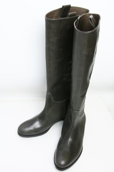 【SALE】【ワールド】【あす楽】【ギフト対応】【訳あり】本革ジョッキーブーツ[グレーブラウン] レディース ファッション ブーツ