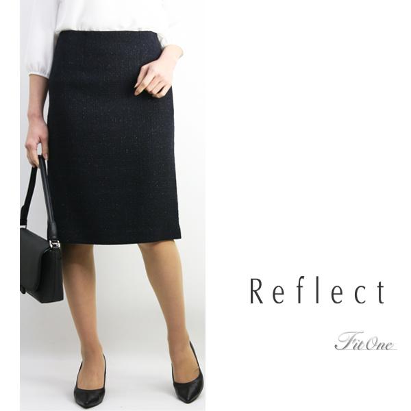 【30%OFF】【リフレクト】【ReFLEcT】【ワールド リフレクト】【あす楽】【ギフト対応】ツイードラメタイトスカート レディースファッション スカート