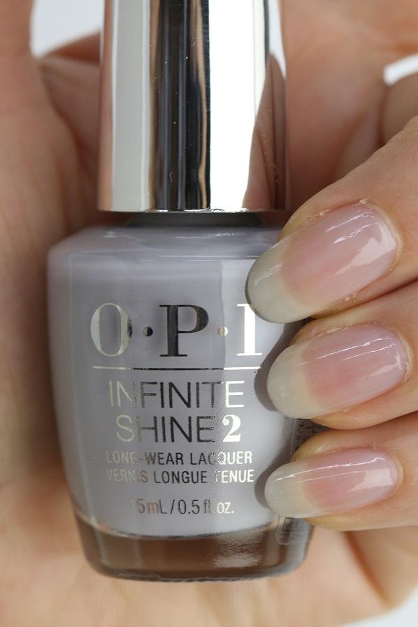 OPI INFINITE SHINE(インフィニット シャイン)  IS-LSH5 Engagemeant to Be(Sheer)(エンゲージメント トゥ ビィ) opi マニキュア ネイルカラー ネイルポリッシュ セルフネイル 速乾 グレー 春ネイル オフィスネイル ホワイトデー