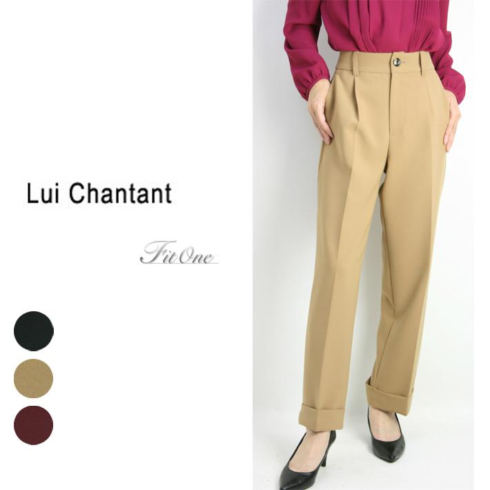 【30%OFF】【ルイシャンタン】【Lui Chantant】【ワールド ルイシャンタン】【あす楽】 手洗い可 NEWシルエットスポーティトラッドパンツ レディース ファッション パンツ