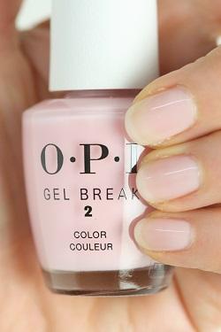 O P I gel break nail lacquer pro Paris pink NTR03