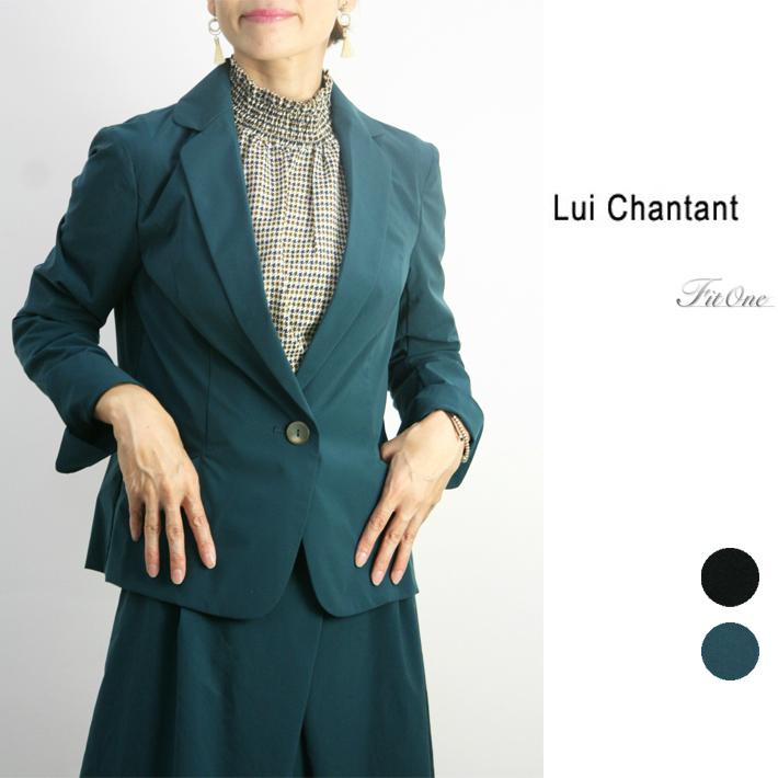 【30%OFF】【ルイシャンタン】【Lui Chantant】【ワールド ルイシャンタン】【あす楽】 手洗い可 マットポリエステルテーラージャケット レディース ファッション ジャケット スーツ