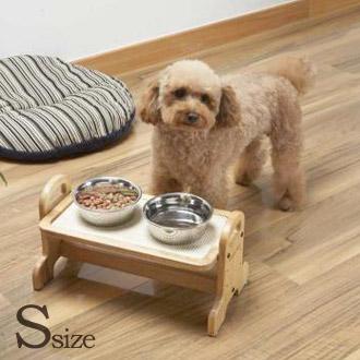 犬猫用 日本製 組み立て簡単 高さ調節食器台 ドギーマン ウッディーダイニング 卓越 Sサイズ