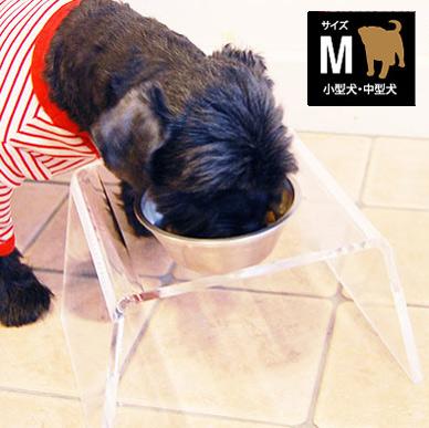 クリアディッシュスタンド Mサイズ 【愛犬用食器】【送料無料※北海道・沖縄・一部地域除く】