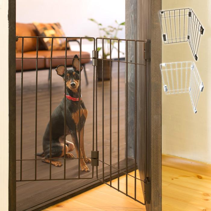 ドア用犬フェンス ウェルカムドッグフェンス PG6055 超小型犬・小型犬専用 タカラ産業