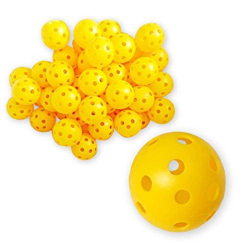 ゴルフ バーゲンセール レビューを書けば送料当店負担 練習用 穴あき ボール 50個セット プラスチック製 軽量