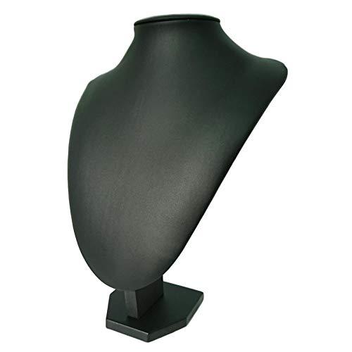 <title>アウプル ネックレス トルソー アクセサリー ジュエリー ディスプレイ 展示 黒 PUレザー ギフト L 29cm</title>