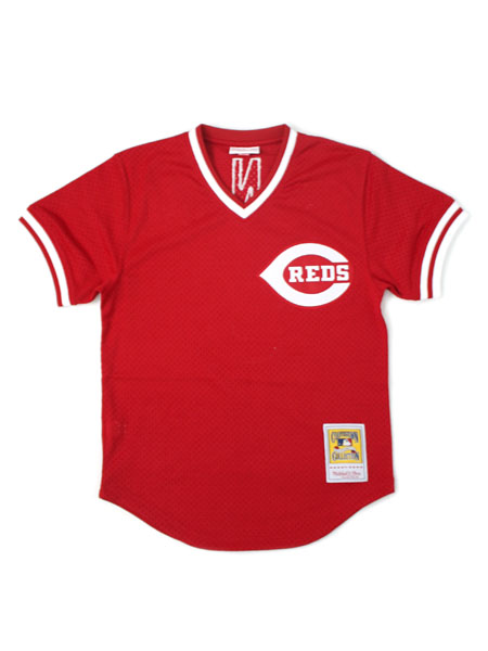 【送料無料】MITCHELL & NESS AUTHENTIC MESH BP-JOHNNY BENCH #5 REDS【5621-406-83JBEN-RED】