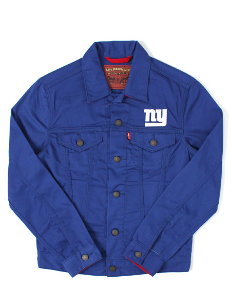 【SALE】【送料無料】LEVI'S NFL TRUCKER JACKET-GIANTS【181940007-B-ROYAL】