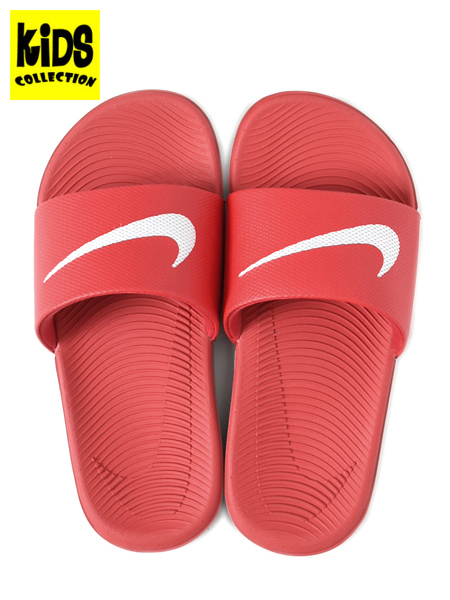 803436f3cbcaf4 楽天市場  KIDS NIKE KAWA SLIDE GS PS UNIVERSITY RED WHITE 819352 ...