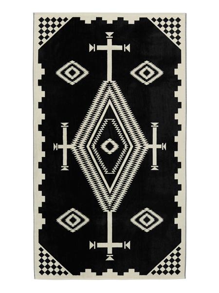 PENDLETON OVERSIZED JACQUARD TOWELS LOS OJOS【XB233-55059-1SZ-BLACK】