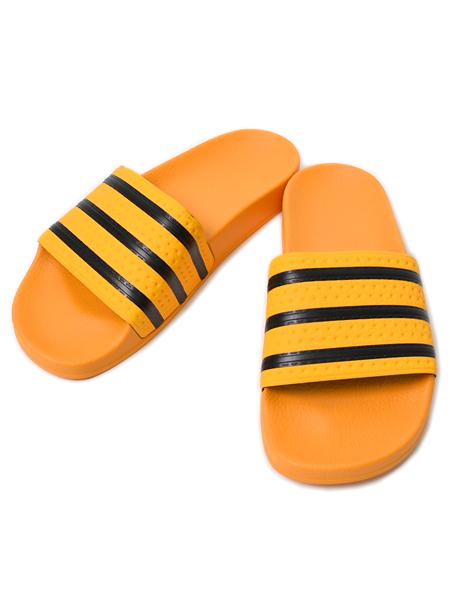 楽天市場 adidas adilette slides real gold core black cq3099 orange