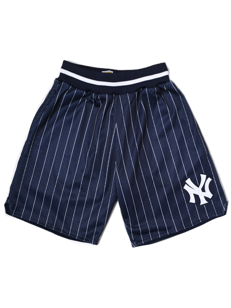 【送料無料】MITCHELL & NESS RETURNING CHAMPION SHORT YANKEES【LA355LNYYBCIX-NAVY】